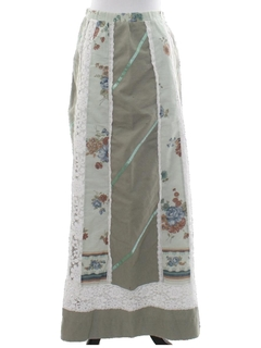 1970's Womens Hippie Maxi Skirt
