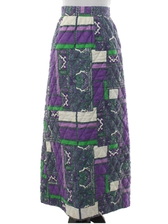 1970's Womens/Girls Quilted Hippie Skirt