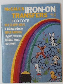 1970's Unisex Iron on Transfers Craft Pattern Book