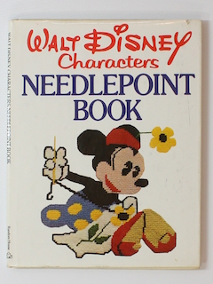 1970's Unisex Walt Disney Needlepoint Craft Pattern Book
