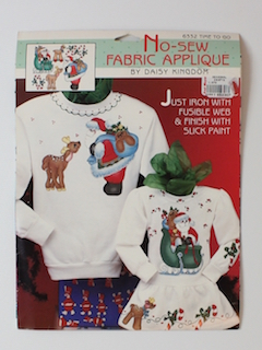 1980's Unisex Christmas Pattern - Fabric Applique