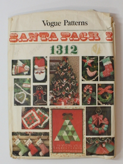 1970's Unisex Christmas Craft Sewing Pattern