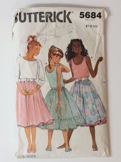 1980's Girls Pattern