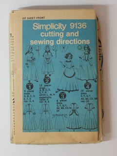 1970's Womens Costume Pattern