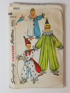 1960's Unisex/Childs Costume Pattern