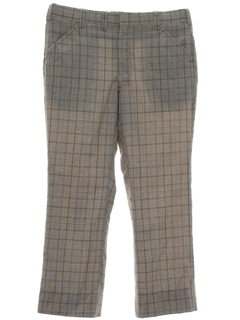 1970's Mens Plaid Golf Pants