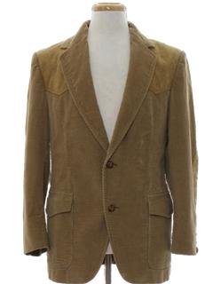 1970's Mens Corduroy Western Blazer Sport Coat Jacket