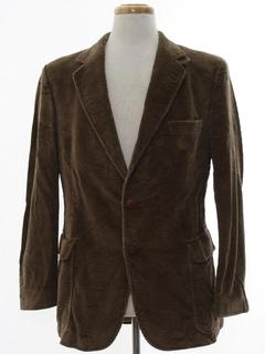 1970's Mens Collar Corduroy Blazer Sport Jacket