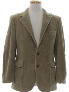 1980's Mens Corduroy Blazer Sport Jacket