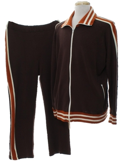 1970's Mens Track Pants and Jacket Suit