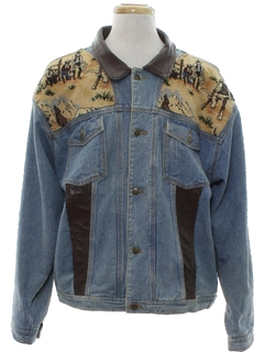 1980's Mens Totally 80s Western Denim Jacket