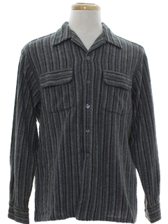 1950's Mens Mod Wool Sport Shirt