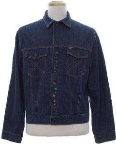 1960's Mens Hippie Denim Jacket