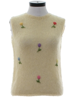 1960's Womens Mod Mohair Sweater