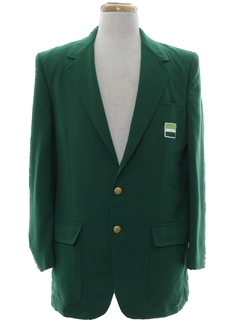 1970's Mens Totally 80s Golf Blazer Sport Coat Jacket