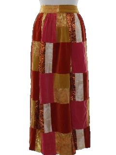 1960's Womens Patchwork Hippie Skirt