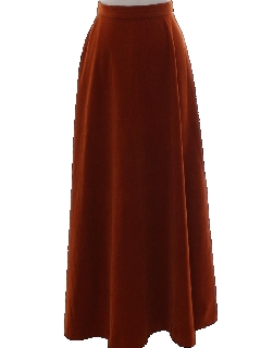 1970's Womens Velveteen Hippie Skirt