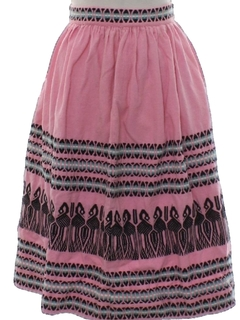 1960's Womens or Girls Circle Skirt