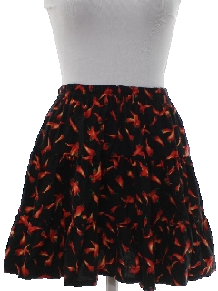 1980's Womens Totally 80s Mini Square Dance Skirt