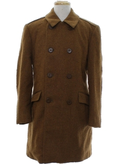 1960's Mens Mod Wool Overcoat Jacket