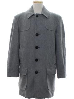 1970's Mens Mod Wool Pendleton Overcoat Jacket
