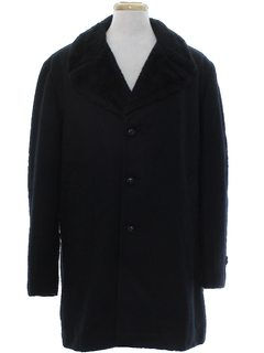 1970's Mens Mod Wool Car Coat Style Overcoat Jacket