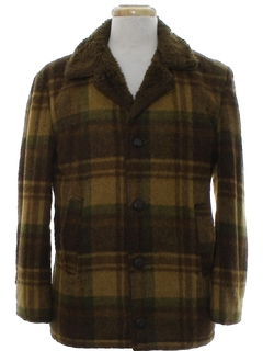 1960's Mens Mod CPO Style Car Coat Jacket