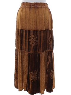 1990's Womens Velvet Hippie Skirt
