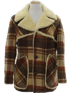 1970's Mens Mod Western Style Car Coat Jacket