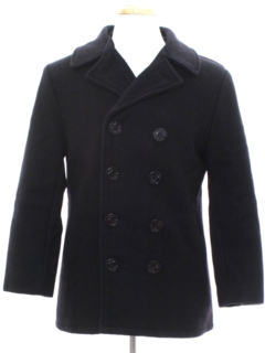 1960's Unisex Navy Issue Wool Pea Coat Jacket