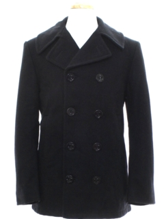 1970's Unisex Wool Pea Coat Jacket