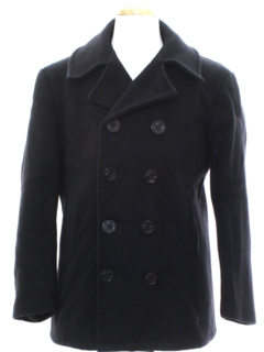 1970's Mens Navy Issue Wool Pea Coat Jacket
