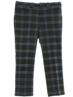 1970's Mens Plaid Leisure Style Golf Pants