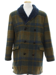 1970's Unisex Car Coat Style Overcoat Jacket