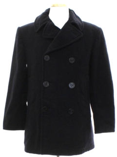 1960's Unisex Wool Pea Coat Jacket