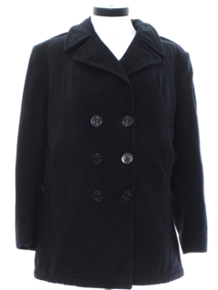 1960's Womens Wool Pea Coat Jacket