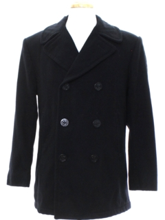1960's Mens Wool Pea Coat Jacket