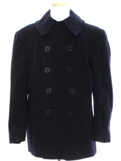 1970's Mens Navy Issue Pea Coat Jacket