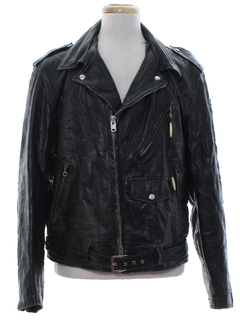 1970's Mens Motorcycle Leather Jacket