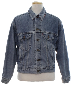 1980's Mens Grunge Levis Denim Jacket