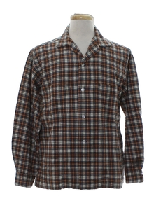 1950's Mens Flannel Sport Shirt