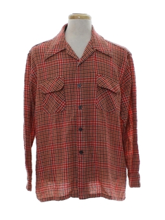 1970's Mens Flannel Board Shirt or Sport Shirt