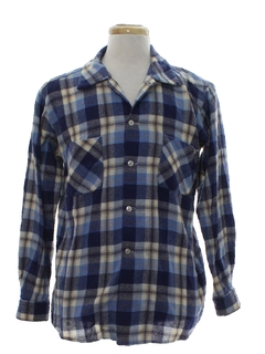 1960's Mens Wool Flannel Shirt