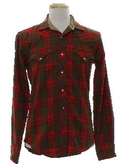1950's Mens Wool Rockabilly Western Shirt