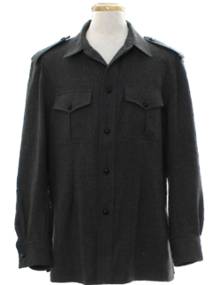 1970's Mens Wool Military Style Shirt