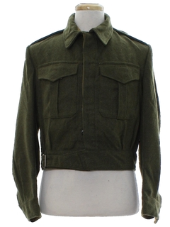 1950's Mens Wool Military Ike (Eisenhower) Jacket