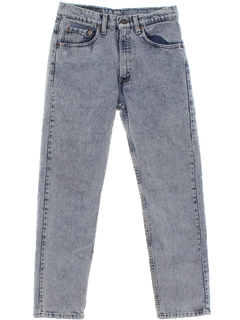 1980's Mens Acid Washed Levis Straight Leg Jeans Pants