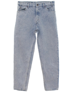 1980's Mens Acid Washed Tapered Leg Jeans-cut Pants