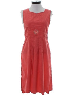 1960's Womens Wrap Style Day Dress