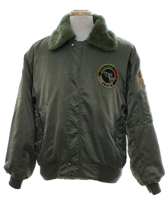 1990's Mens Bomber Style Flight Jacket